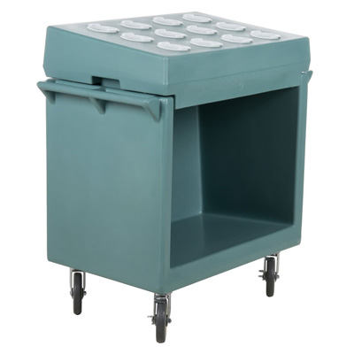 Cambro TDCR12401 Tray and Dish Cart: Cart-&-Rack Combination - Slate Blue