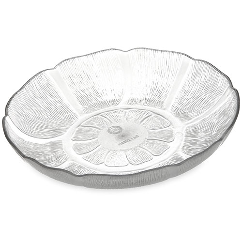 Carlisle Petal Mist Soup/Salad Plates 23.9 oz, 7-15/16 Clear - Pack of 36