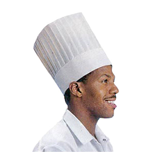 Cellucap CC209 Le Classic White Paper 9 Chef Hat - 12 Pieces