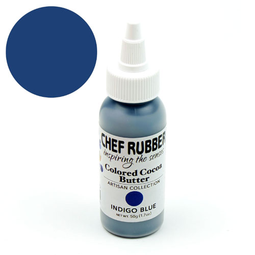 Chef Rubber Artisan Indigo Blue Cocoa Butter, 50g/1.7 Oz