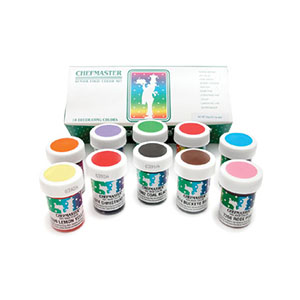 Chefmaster Food Coloring Kit: 1-Ounce - Pack of 10 Food Coloring by ...