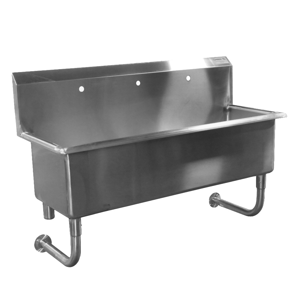 Custom Made Commercial Wall Hung Hand Sink Stainless Steel 5 Feet