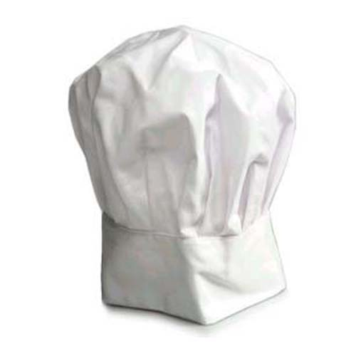 Deluxe Chef Hat Off-White Adjustable Velcro Closure.