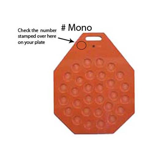 Divider Rounder Plate Mono For Mono Equipment Dough