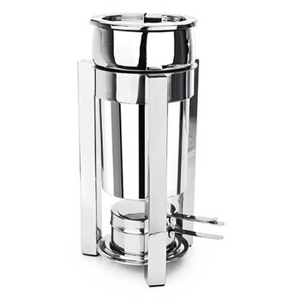 Eastern Tabletop 3101P2 2 Qt. Petite Marmite Sauce Stand P2 Square Style - Stainless Steel