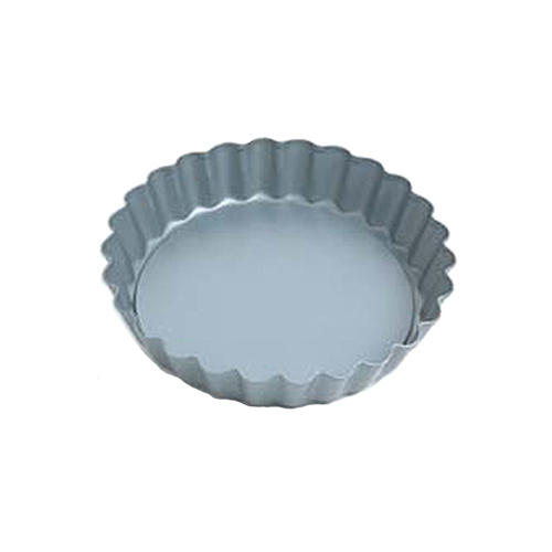 Fluted Round Quiche Pan w/Loose Removable Bottom, Non Stick, 4 Dia, 3/4 Deep
