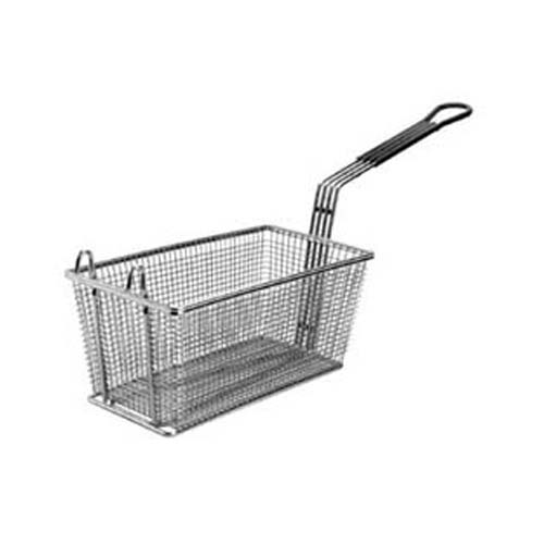 FMP Fry Basket W/ Plastic-Coated Handle, 13-1/4 x 9-1/4 x 6: Twin, Front Hook