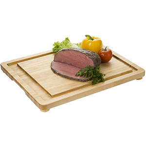 Focus Carving Board with Wood Legs, 20 x 16 x 1