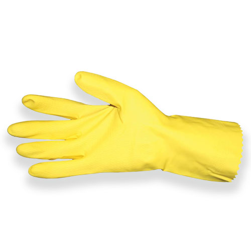 Impact-Products Flock-Lined Latex Gloves, 1 Pair - Medium