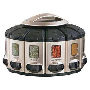 KitchenArt Pro 57010 Auto-Measure Spice Carousel, Stainless Steel Satin
