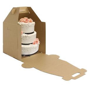 Tall Kraft Cake Carrier Box Cake Boxes Bakedeco Com