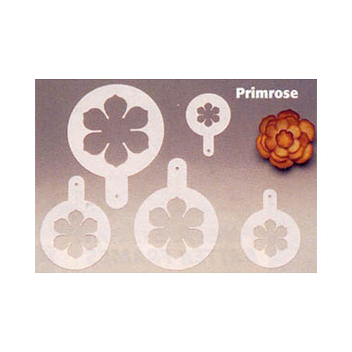 Martellato Plastic Decorating Stencil, 5 Pc. Set - Primrose