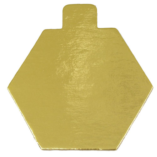 Mono-Board, Gold, Hexagon with Tab - Pack of 500