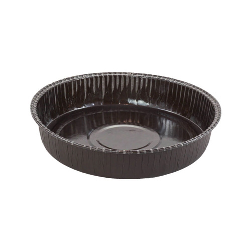 Novacart Brown Round Coated-Interior Baking Mold  6-5/8 x 1-1/2 High, Pack of 12