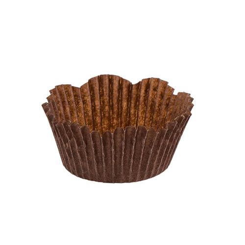 Novacart Disposable Brown Petal Paper Baking Cup 2 Bottom
