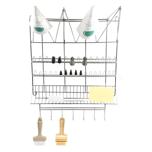 O'creme Pastry & Tube Drying Rack, Wall Mounted, Stainless Steel