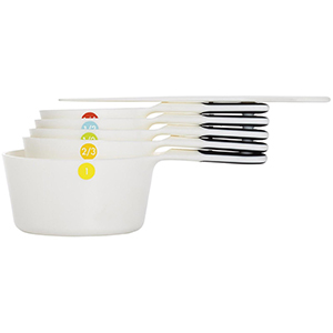 Oxo 11111102 Good Grips Set of Measuring Cups with Scraper, White