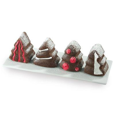 Pavoni Silicone Mold Christmas Tree 8 Cavities Multiple