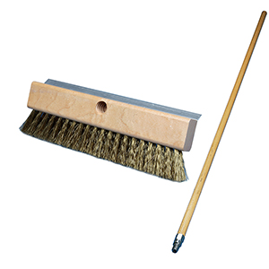 Pizza Oven Brush, 10 wide with 48 Handle