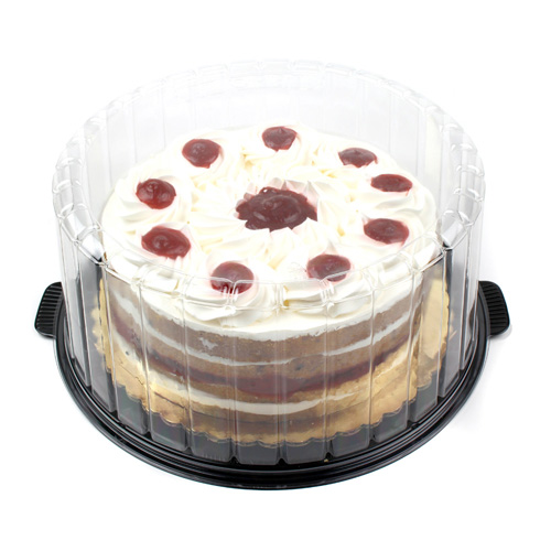 Plastic Container for 7 Round Layer Cake, Case of 100