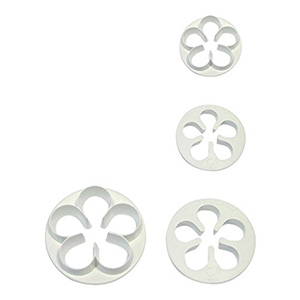 PME Plastic Cutters, 4 Pc. Set, Five Petal