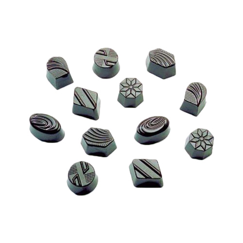 Polycarbonate Chocolate Mold Assorted: Diamond, Hexagon, Octagon, Round, Oval & Horseshoe