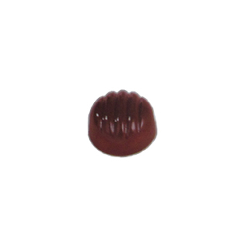 Polycarbonate Chocolate Mold Fluted Dome 29mm Diameter x 17mm High, 40 Cavities