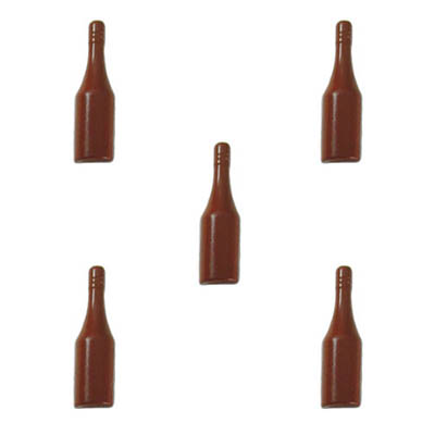 Polycarbonate Chocolate Mold Half-Bottle 136x40mm, 5 Cavities