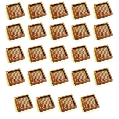 Polycarbonate Chocolate Mold Square 34.5mm x 5.5mm High, 28 Cavities