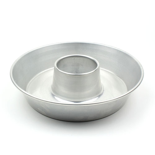 Round Aluminum Tube Cake Pan 12 Top Inner Diameter 2 3 4