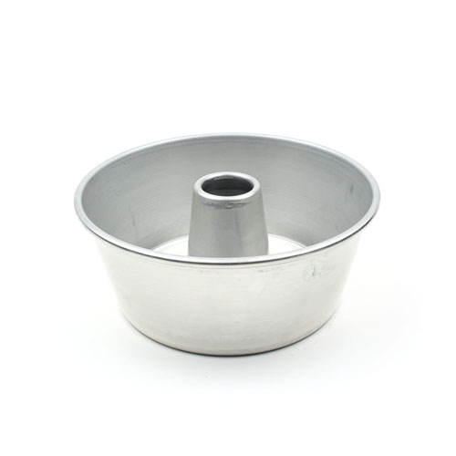 Round Tube Cake Pan 9-1/2 Top Outer Diameter x 4 High, 3 Qt. Cap.