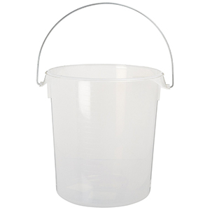 Rubbermaid 5729 Round Storage Container with Bail, 22 Quart (Lid Not Included)