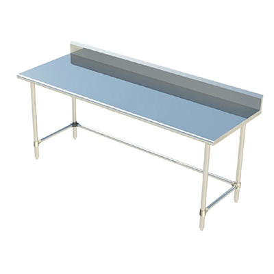 Sapphire SMTOBS Stainless Steel Top Work Table With Backsplash - Stainless steel work table with backsplash