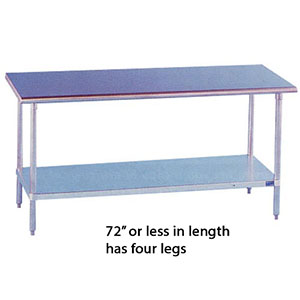 Stainless Steel Work Table 14 (D) x 30 (W)