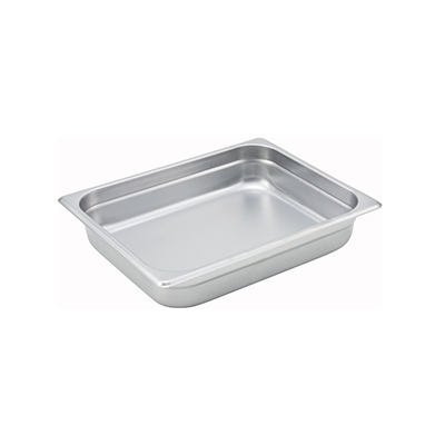 Steam-Table Pan, Stainless, Half Size (10-3/8 x 12-3/4) x 2-1/2