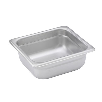 Steam-Table Pan, Stainless, Sixth Size (6-7/8 x 6-5/16) x 2-1/2