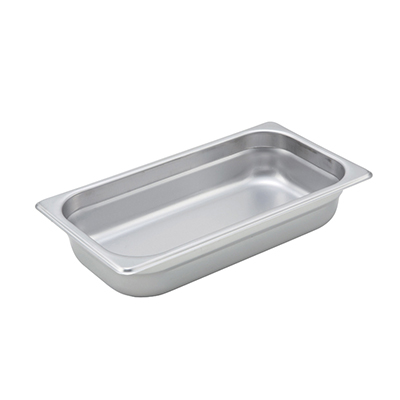 Steam-Table Pan, Stainless, Third Size (6-7/8 x 12-3/4) x 2-1/2