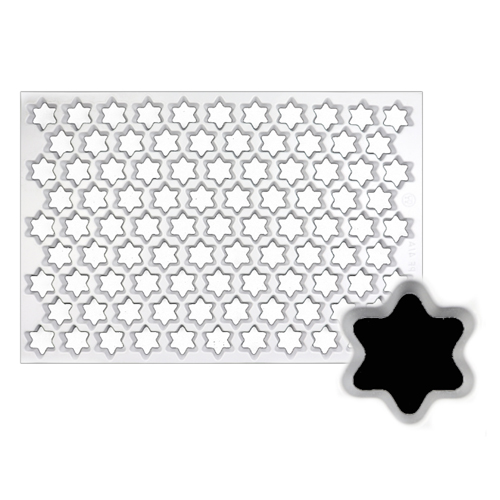 Production Cookie Cutting Sheet, Star 1-3/8