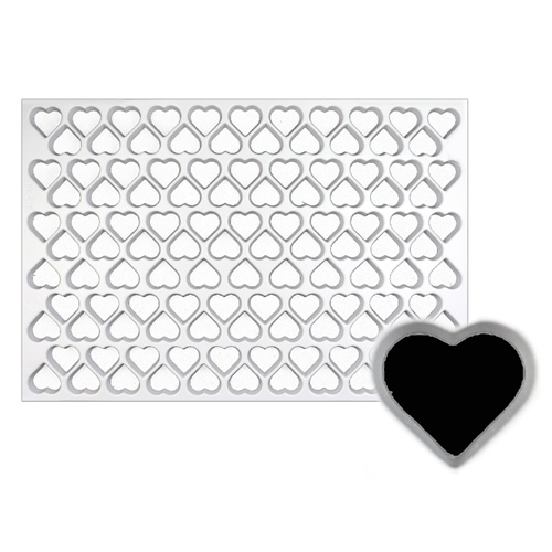 Production Cookie Cutting Sheet, Heart 1-3/8