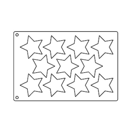 Tuile Template, 5-point Star 3-3/8; Overall Sheet 10.5 x 15.5 Tuile ...