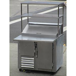 Universal Coolers SCBM Sandwich Prep Table With Overhead Shelf - Sandwich prep table cooler