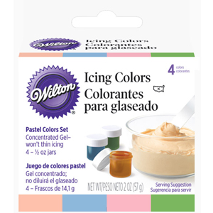 Wilton Food Color Icing Pastel Icing Colors. Four 1/2 oz. Jars ...