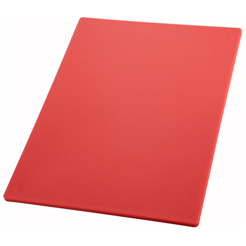Winco CBRD-1520 Cutting Board 15 x 20 x 1/2 Thick, Red