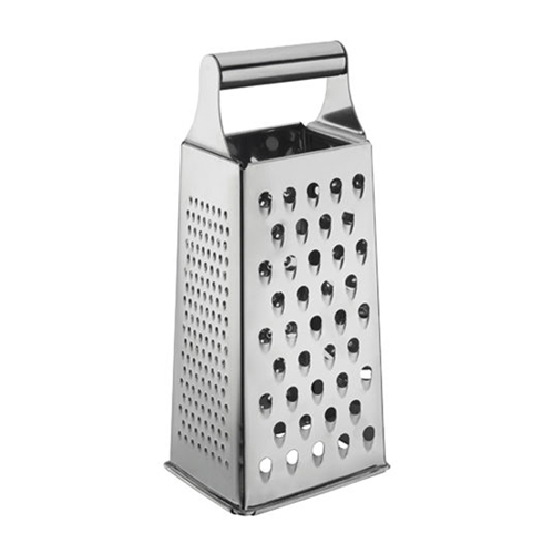 Winco Cheese Grater Box Style - Tapered - Stainless Steel - 9 H.