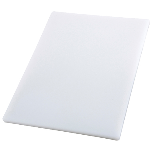 Winco Cutting Board, Polyethylene, White, 3/4 Thick - 12 x 18