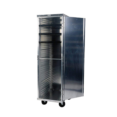 Winholt Enclosed Tray Cabinet, Heavy Duty Aluminum, 21W x 27D x 68 High
