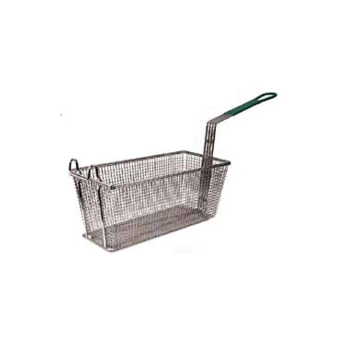 Winco Fry Basket w/Non-Slip Sleeve Color: Orange Handle: 12-1/8 L x 6-1/2 W x 5-3/8 High