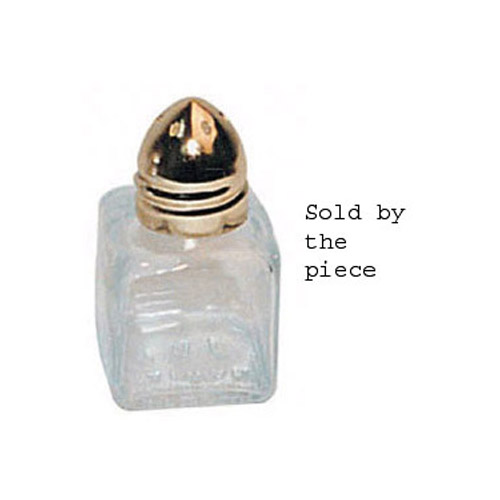 Winco Salt Shaker, Mini-Cube, Gold Plated Top, 1/2 Oz.