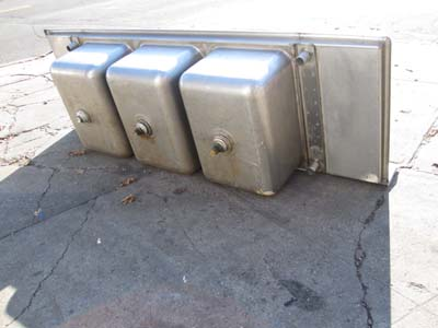 Compartment Stainless Steel Sinks Will Fit Full Size Sheet Pans Used ...