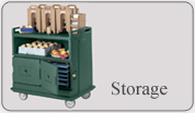 Food storage racks and insulated boxes